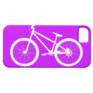 White Bike on Purple iPhone SE/5/5s Case