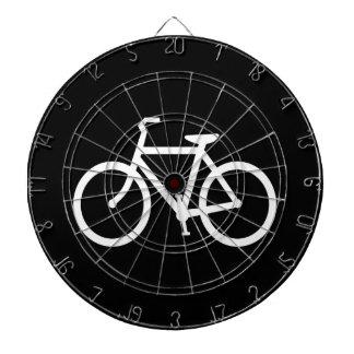 White Bike Route Dartboard With Darts