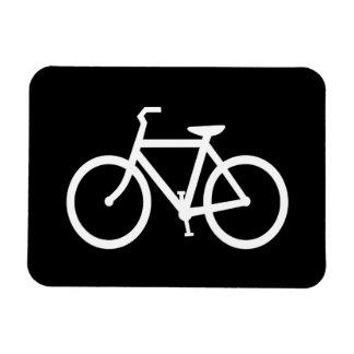 White Bike Route Magnet