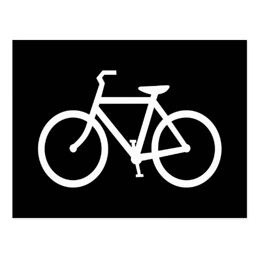 White Bike Route Postcard