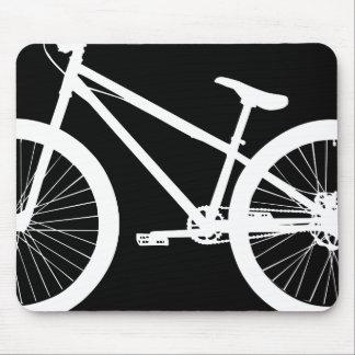 White Bike Silhouette Custom Color Mouse Pad