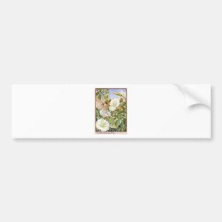 White Bindweed Fairy Bumper Sticker