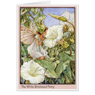 White Bindweed Fairy Card