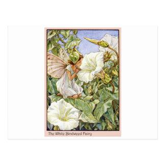 White Bindweed Fairy Postcard