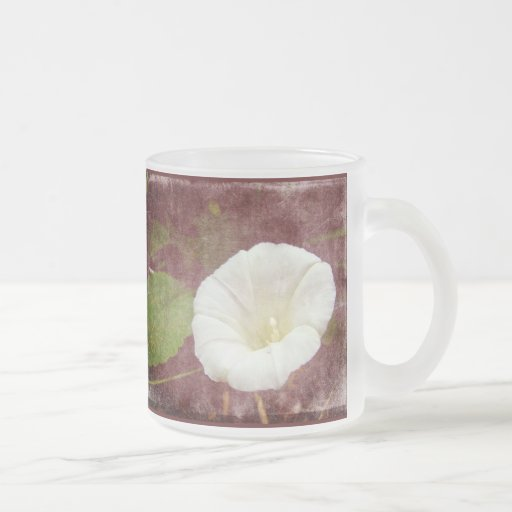 White Bindweed - The Wild Perennial Morning Glory 10 Oz Frosted Glass Coffee Mug