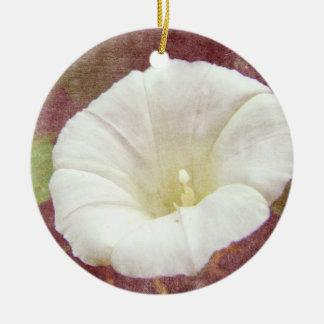 White Bindweed - The Wild Perennial Morning Glory Ceramic Ornament
