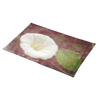 White Bindweed - The Wild Perennial Morning Glory Cloth Place Mat