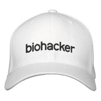 white biohacker baseball cap