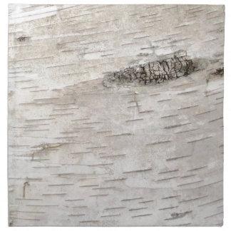 White Birch Bark Cloth Napkin