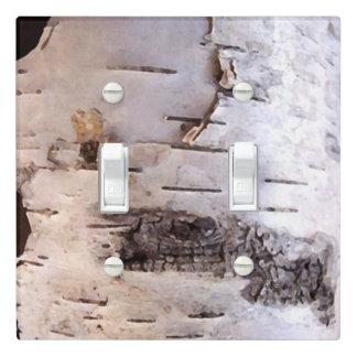 White Birch Bark Light Switch Cover