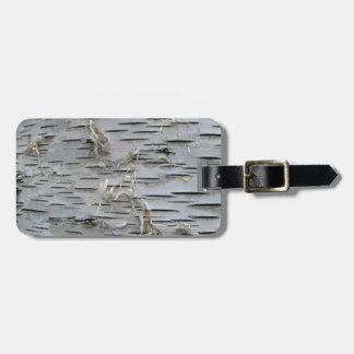 White Birch Bark Luggage Tag