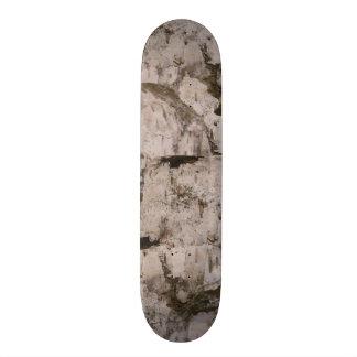 White Birch Bark Skateboard Deck