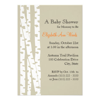 White Birch Tree/ Baby Shower Custom Invites