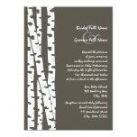 White Birch Tree/ Dark Brown Personalized Invitations