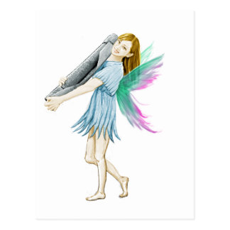 White Birch Tree Fairy Carrying Bark Postcard
