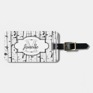 White Birch Tree Forest Luggage Tag
