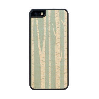 White Birch Trees Carved® Maple iPhone 5 Slim Case