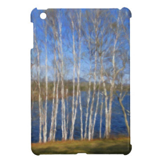White Birch Trees in Searsport Maine Cover For The iPad Mini