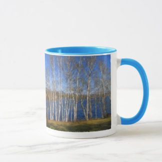 White Birch Trees in Searsport Maine Mug
