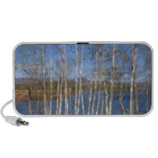 White Birch Trees in Searsport Maine Notebook Speakers