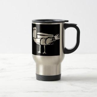 **White BiRd** 15 Oz Stainless Steel Travel Mug