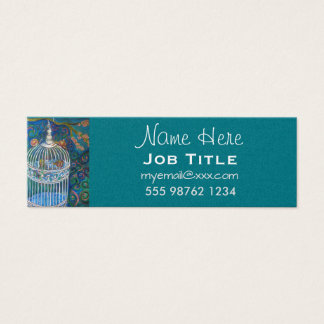 White bird cage business card