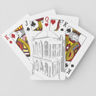 White Bird Cage Playing Cards