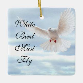 White Bird Ceramic Ornament