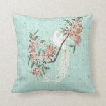 White Bird - Cherry Blossoms Pillows
