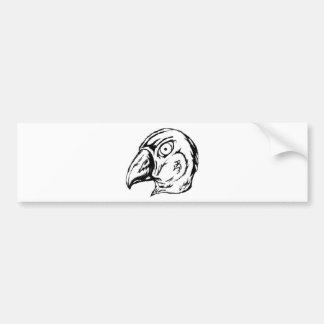 White Bird Head Bumper Sticker