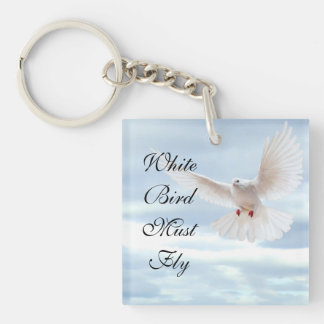 White Bird Keychain