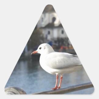 White bird Lucern Switzerland Sticker