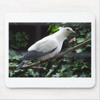 White Bird Mouse Pad