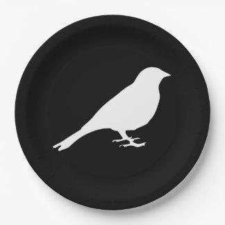 White Bird Paper Plates