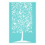 White Birds en árbol Tarjetas Informativas