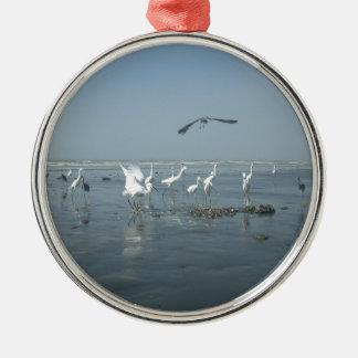 White birds featehres hakuna matata.JPG Metal Ornament
