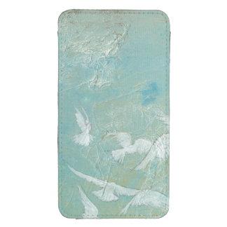 White Birds Flying Through Blue Sky Galaxy S4 Pouch