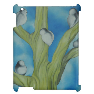 White birds in a tree case for the iPad
