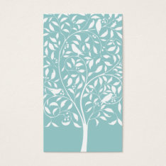 White Birds In Tree Business Card at Zazzle