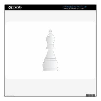 "White bishop chess piece 11"" MacBook air decal"