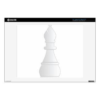"White bishop chess piece 14"" laptop decal"