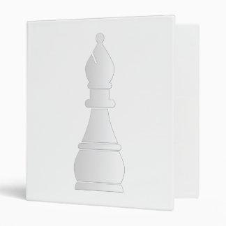 White bishop chess piece 3 ring binder