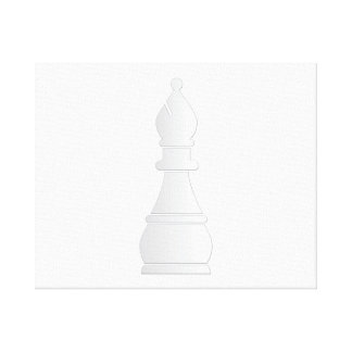 White bishop chess piece canvas print