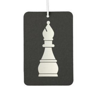 White bishop chess piece car air freshener