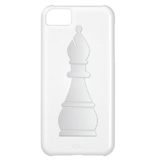 White bishop chess piece case for iPhone 5C
