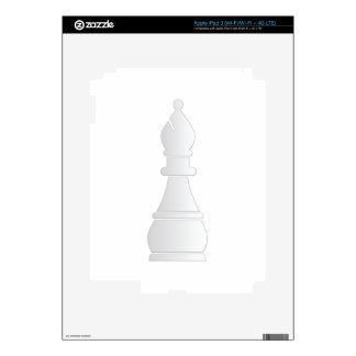 White bishop chess piece iPad 3 skins