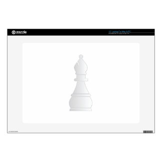 White bishop chess piece laptop decal