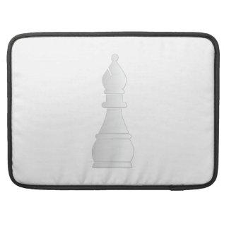 White bishop chess piece MacBook pro sleeves