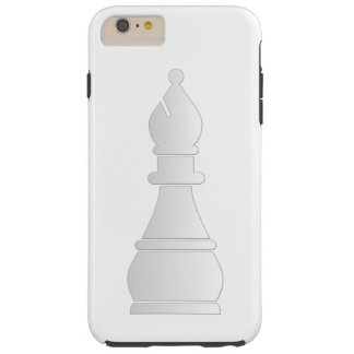 White bishop chess piece tough iPhone 6 plus case