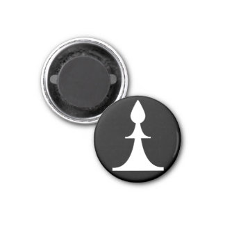white bishop (you need 2) 1 inch round magnet